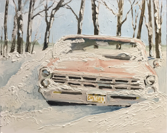1966 Ford snow bank